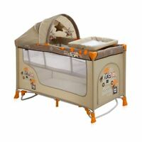 New Baby Nanny Travel Cot Bed 2 Layers Play Pen Yard Child Infant Boy Girl Kid
