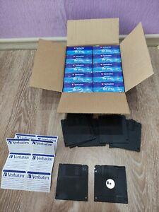 """*Lot of 100 disks* Verbatim. NEW. Floppy disks 3.5"""" 10 boxes cardboard. Sealed."""