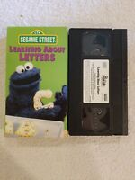 Sesame Street - Learning About Letters (VHS, 1986) COOKIE MONSTER 1986 RARE