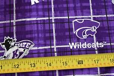 By 1/2 Yd, Kansas State University Wildcats Cotton Quilt Fabric, Sykel, N1855