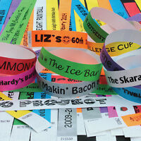 PRINTED PARTY 19mm Tyvek Wristbands. Ideal for Parties, Festivals & Events