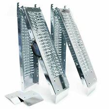 Coppia rampe di carico per moto quad acciaio galvanizzato pieghevoli
