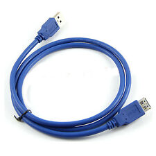 Superspeed USB 3.0 Type A Male to Female 28AWG Extension Cable, 3 Feet Blue