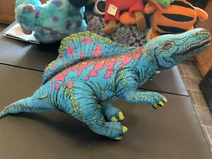 VTG 1992 Determined Productions Applause Dinosaur Plush Toy Spinosaurus Blue