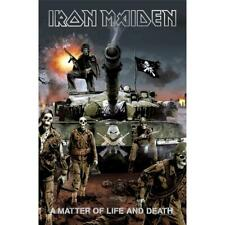 More details for official licensed - iron maiden - a matter of life and death textile poster flag