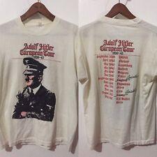 VINTAGE RARE! 1980s 50/50 SCREEN STARS ADOLF HITLER 39-45 ROCK TOUR T SHIRT