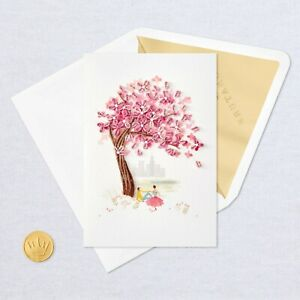 Hallmark Love Anniversary Card by Signature ~ 3D Quilled Cherry Blossom Tree