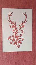 2242 Schablonen Hirsch Wandtattoo Vintage Stanzschablonen Shabby chic Stencil