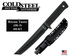"Cold Steel 7"" Fixed Blade Knife Recon Tanto SK-5 Steel With Sheath 49LRT"
