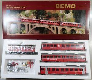 """Bemo Spur H0m 7252 100 RhB Zugset """"Davoser Pendelzug"""" mit E-Lok BR Ge 4/4 I"""