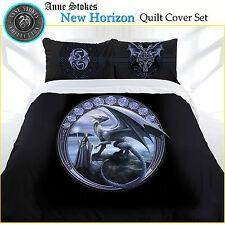 3 Pce New Horizon Gothic Dragon Quilt Doona Duvet Cover Set Anne Stokes DOUBLE