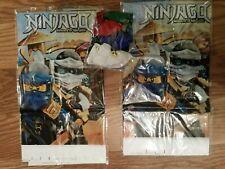 Lego Ninja tablecloths and matching latex balloons