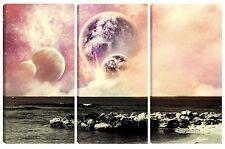 Quadro moderno LUNA sole marte universo lago pianeta sistema solare 60x90 terra