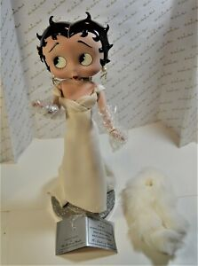 Betty Boop Irresistible Porcelain Doll by Syd Hap Danbury Mint White