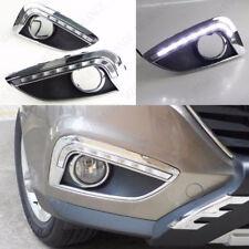 Pair LED Daytime Running Lights DRL Fog Lamp Cover For Hyundai ix35 2010-2013