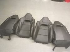 2015 Chevy Corvette Z06 1LZ Upper Seat Section Black Leather/White Stitching