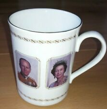 Rare Bone China Cup Commemorating The Queen's Visit to Selby Coalfield - 1989