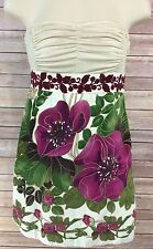"""FREE PEOPLE Boho """"Lost in Paradise"""" Strapless Tunic Top Floral Print Sz 4"""
