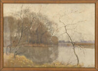 Attrib. Edward Millington Synge ARE (1860-1913) - Watercolour, Lake Landscape