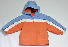 The Children's Place Hooded Lined Spring Jacket Blue White Orange Coat Girls 24M