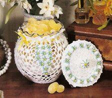 LOVELY Powder Jar/Decor/Crochet Pattern INSTRUCTIONS ONLY