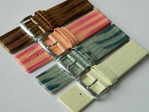 Genuine Calf Leather Croco Pattern Lacquered Watch Strap Anti-allergic Buckle