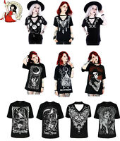 Restyle T-Shirt Tees Alternative Top Witch Wicca Goth Black Moon Bat tshirt