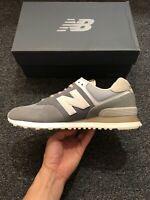 NWT Men Size 9 (Euro 42.5) New Balance Classics 574 Suede Runner Shoes Gunmetal