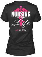 Nurse Nursing Rn Cna Lpn 022 - Is My Life Gildan Women's Tee T-Shirt