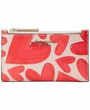 Kate Spade Spencer Ever Fallen Slim Bifold Wallet Card Case BNWT Hearts - $98