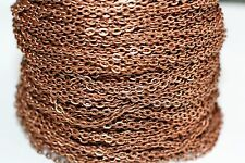 15ft Red Copper 3x2m Flat Chain Links 1-3 day Ship
