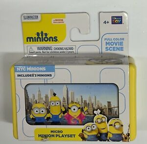 NYC Minions Micro Minion Playset 3 Figures Figurines Toys Color Scene