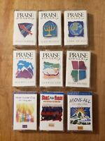 Hosanna Music PRAISE & WORSHIP Lot of 9 Religious & Devotional Cassettes