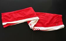 Descente Wind Breaker Cycling Pants Size XL- Red/ White