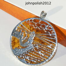 Lighthouse Baltic Amber Pendant with Silver 925