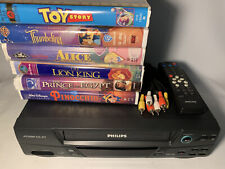 New ListingPhilips Vr620Cat21 Vcr With Remote Vhs Player Hi-Fi 4-Head Stereo w/ 6 Disney