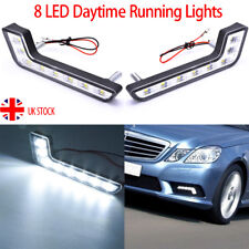2pcs L-Shape 8LED Daytime Running Light Front Fog Driving Lamp Headlight DRL