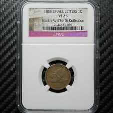 1858 Flying Eagle Cent NGC VF25 - Small Letters (23030)