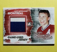 2012-13 ITG Forever Rivals, Mats Naslund, 2 Color Game Used Jersey, Gold 10 Made