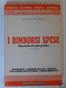 VINCI/GAGLIARDI RIMBORSI SPESE PIROLA EDITORE