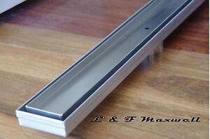 Linear floor waste grates Stainless Steel 600mm - tile insert