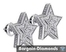 diamond star .10 carat stud screwback 925 screwback earrings men unisex ladies