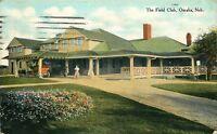 OMAHA NE THE FIELD CLUB POSTCARD c1910