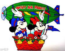 "17"" Disney vintage mickey & minnie balloon fabric applique iron on character"