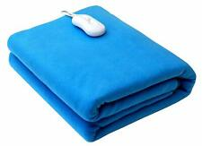 Pindia Polyester Single Bed Warmer Electric Blanket - 150 x 80 cm, Sky-Blue