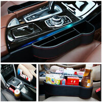 Black Red Line Car Seat Gap Storage Box Deep Enough PU Leather Exquisite Looking