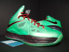 2012 NIKE LEBRON X 10 CUTTING JADE TOURMALINE GREEN BLACK RED FIBERGLASS 8.5