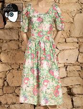 VINTAGE 80s 'NEW FAST' FLORAL PRINT DRESS - UK 8 - (Z)