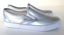 *BNWT* Tammy Girl Silver Holographic Pumps / Flats 3 UK / 36 EU b10