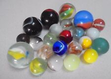 Assorted Shooter Marbles-Tom Bowlers Cats eyes Sm colored glass marbles of age
